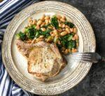 Pork Chops with White Beans & Escarole