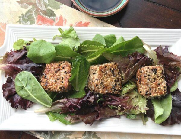 Seared Sesame Tuna with Mixed Greens