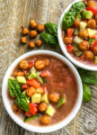 Gazpacho with Crispy Chickpea